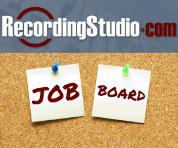 Recording Studio Job Board