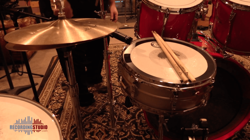 Shure SM57 on snare drum